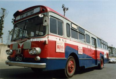 倉敷市交通局のふそうMR410(1969年式,三菱重工業)