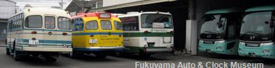 おのみちバスを訪れた鞆鉄道の5E車と日野BA14・BH15