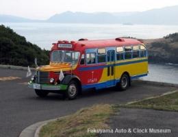 ボンネットバス・日野BA14 in 生月島(2009.11.29 大バエ灯台下において)