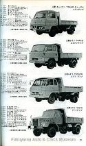 『自動車ガイドブック』第19巻(1972年発行) 三菱キャンターT98ADディーゼル2トンダンプなど掲載のページ【クリックで大きく表示】