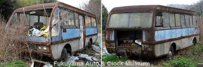 福山市某所に遺存するマツダ ライトバスA型かB型の廃車体 2010.3.13撮影【クリックで大きく表示】