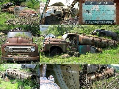 兵庫県某所の廃車体集積地にあるトヨタFA90ベースの衛生車の廃車体【クリックで大きく表示】