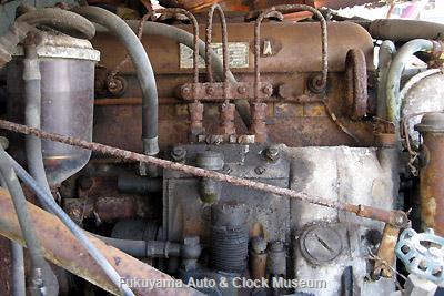 元中鉄バスのニッサンU690(1964年式,富士重工業)廃車体に搭載のUD3型エンジン