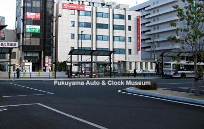 2012年12月24日 福山駅前バスのりば9番バース西端から東向きに撮影【クリックで大きく表示】
