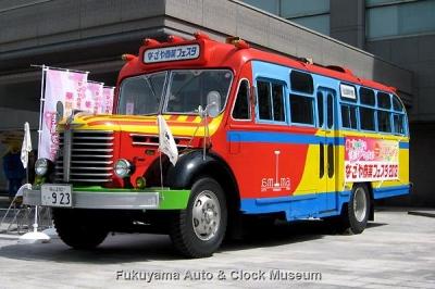 ボンネットバス・日野BA14 4月1日、名古屋市公館前にて記念撮影【クリックで大きく表示】