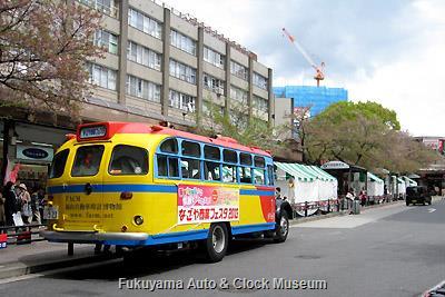 4月7日、名古屋市名東区・藤が丘中央商店街の第34回藤が丘さくらまつりを訪問したボンネットバス・日野BA14