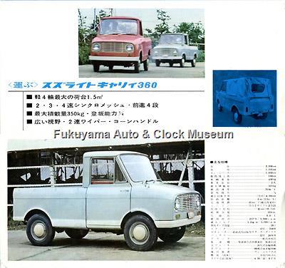スズライト 1961年・第8回全日本自動車ショー配布版カタログ(4・5ページ)