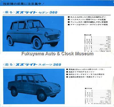 スズライト 1961年・第8回全日本自動車ショー配布版カタログ(6・7ページ)