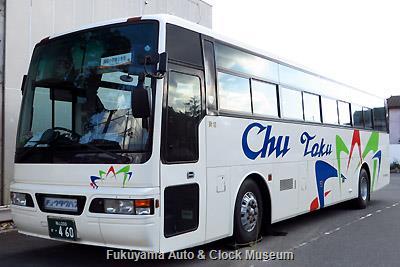 中国タクシーの日産ディーゼルKC-RA531RBNスペースアロー(1998年式,富士重工業7HD,福山200か460)