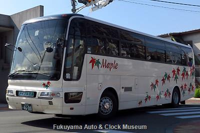 メイプル交通の三菱ふそうKL-MS86MPエアロクィーンI(2001年式,三菱自動車バス製造,広島230あ4600)