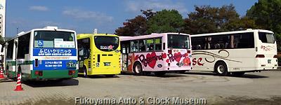 「ふくやまバスまつり2013」車両展示状況