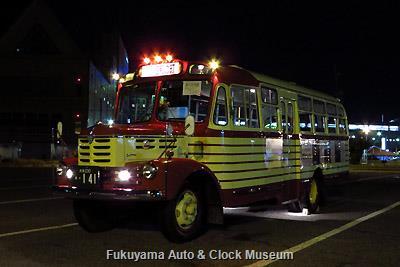 ボンネットバス・いすゞBX141 ナイトシーン 徳山港において