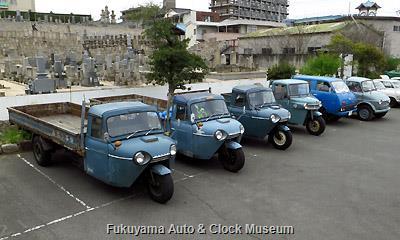 「第7回糸目フェス」開催風景 三輪トラック・小型四輪トラック並び