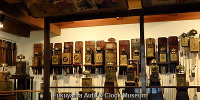 和時計展示コーナー