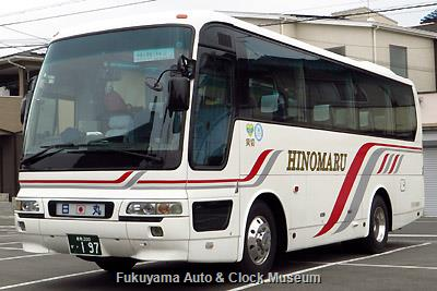 日の丸タクシー(日の丸観光バス)の三菱ふそうPA-MM86FH エアロバスMM(2007年式,三菱ふそうバス製造,倉敷200か197)
