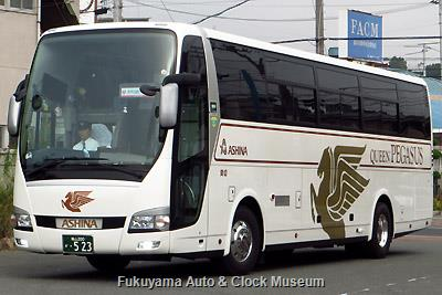 アシナトランジットの三菱ふそうBKG-MS96JP エアロクィーン(2008年式,三菱ふそうバス製造,福山200か523)