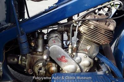 三輪トラック・マツダ号GA型(1949年式)の機関部【クリックで大きく表示】