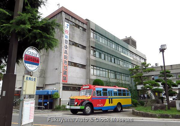 豊後高田市旧庁舎×ボンネットバス・日野BA14