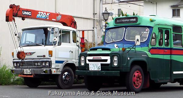 日野レンジャーKL-SD クレーン付トラックとボンネットバス・ニッサンU690