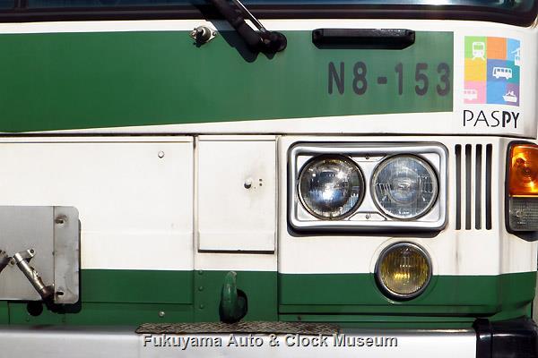 鞆鉄道N8-153 ニッサンディーゼルP-UA32L(富士重工業5E)の前部 2016年9月23日撮影