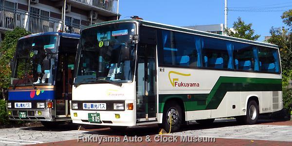 福山観光バス 福山230う801 日野U-CH3HFAA レインボー7M(1991年式)・福山230い805 日野U-RR2HJBA レインボーRR(1994年式)