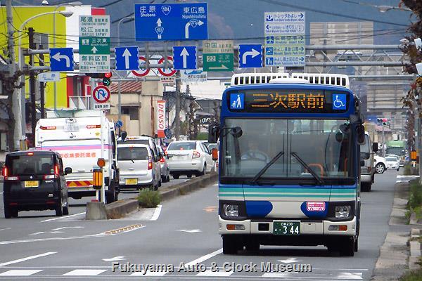 備北交通344 広島230あ344 いすゞSKG-LR290J2 エルガミオ 三城線(庄原〜三次)での運行風景