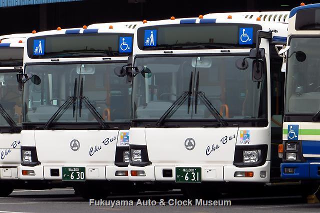 中国バスI1701・I1702 福山200か630・631 いすゞQKG-LV290N1 エルガ(ジェイ・バス,2017年式)