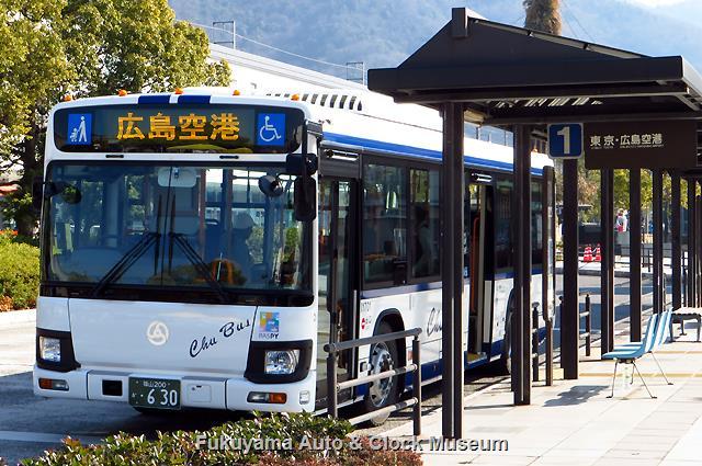 中国バスI1701 福山200か630 いすゞQKG-LV290N1 エルガ 2月16日(木)運用初便、三原駅前において