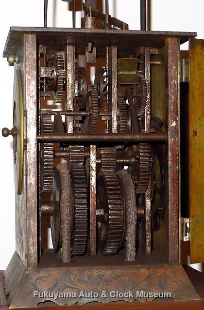 二挺天符式台時計[櫓時計]の機構部