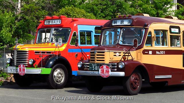 日野BA14 & 鞆鉄道の いすゞBX341 還暦祝い