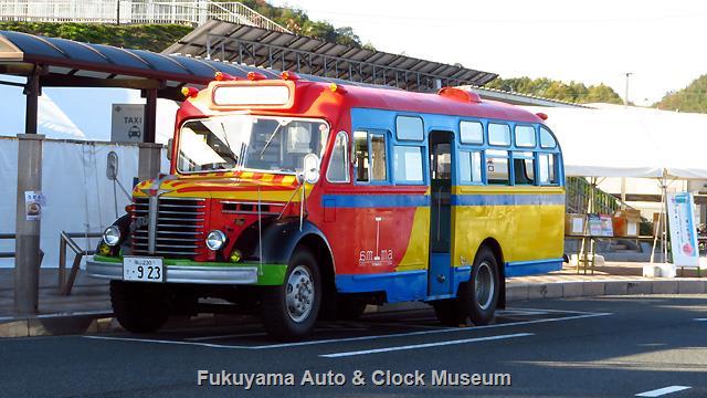 「井原市公共交通祭り」での日野BA14展示風景
