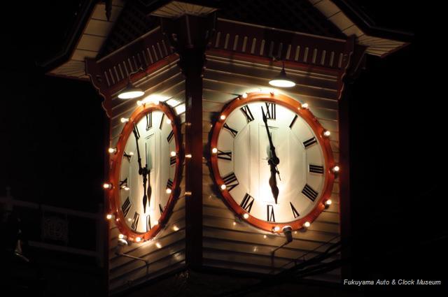 時計台ライトアップ