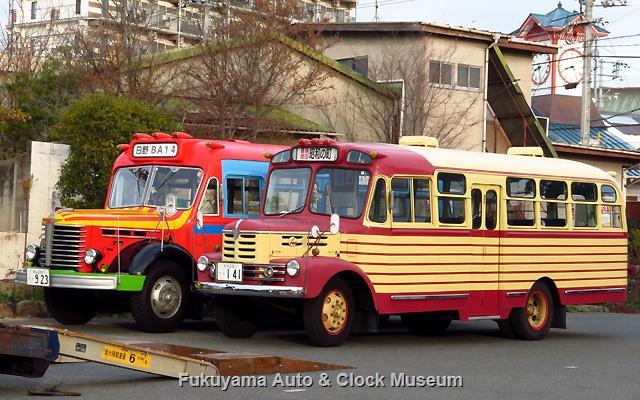 ボンネットバス・いすゞBX141と日野BA14の並び 1月11日朝撮影