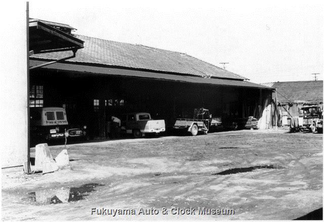 昭和32年 広島トヨペット福山支店 整備工場の北側