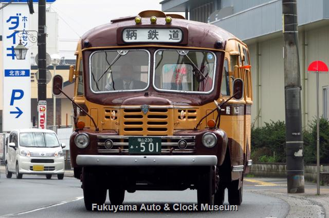 鞆鉄道のボンネットバス・いすゞBX341 2019年度定期観光初日 2019年3月21日