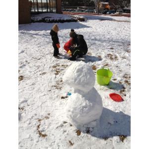 兄弟初雪遊び