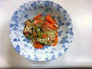 チリソース野菜炒め
