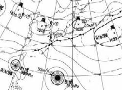 天気図10月5日午後3時