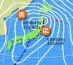 11月14日午前9時天気図