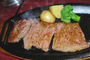山形牛のステーキ