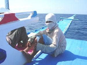 舟上にて 14歳のスタッフくん