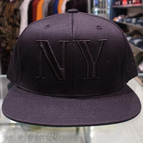 "1697fba2b7d 40oz NYC Snap Back Cap ""Balmain NY""   Black x Black 6"