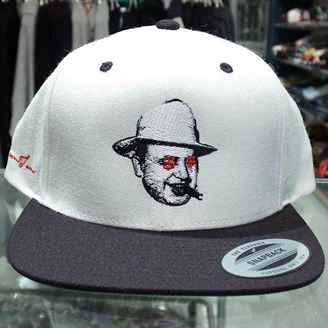 "e6a4b47bde7 Dream Team Snapback Cap ""Al Capone""   White x Black 5"