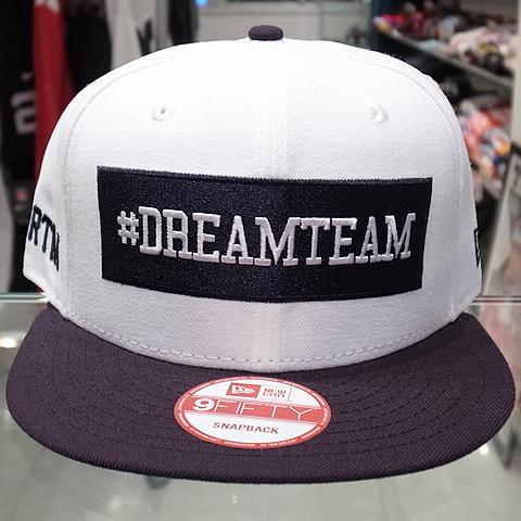 "Dream Team x New Era Snapback Cap ""Box Logo""   White x Navy 5 a47d1a2ceeab"