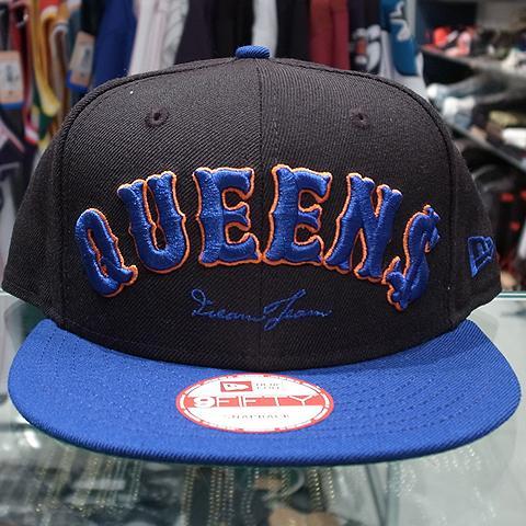 """Dream Team x New Era Snapback Cap """"Queens 2014""""   Black x Blue 4 c96c1f5ecd3d"""