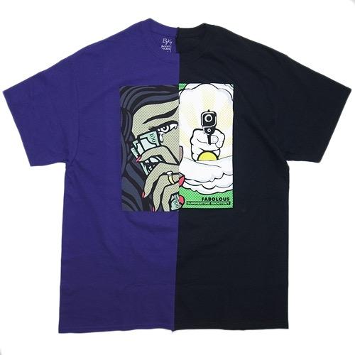 "939d1a8b1ad4 Blood s Thicker x ByKiy Split T-shirts ""Summertime Shootout""   Purple x  Black 8"