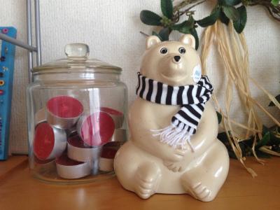 シロクマの貯金箱3