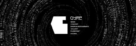 渦(=GYRE)をイメージしたサイトデザイン