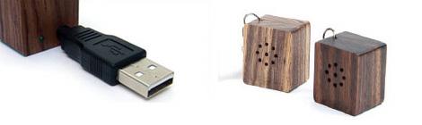 USB接続の超小型ウッドスピーカー