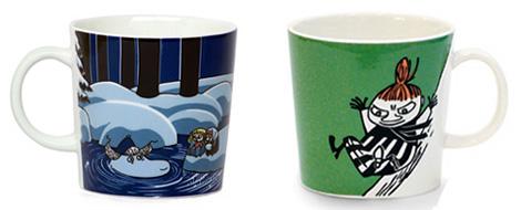 Moominキャラクターが描かれたマグカップ